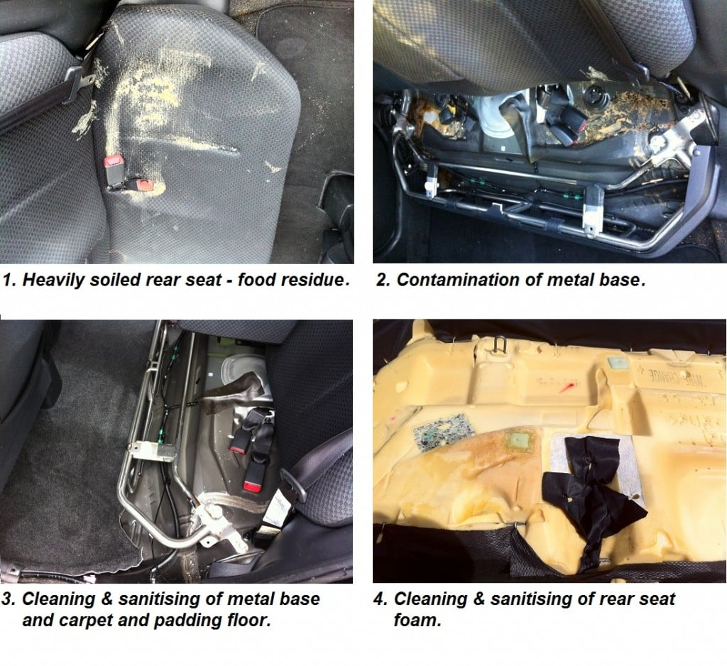 car interior & upholstery cleaning process