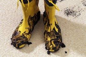 foot prints carpet